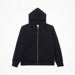 97338 SY 스티치 줄지 집업 후드 티셔츠 (Black)