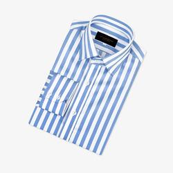 97697 프리미엄 스트라이프 셔츠 (Sky Blue)
