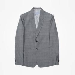 98375 린넨 글렌체크 싱글 자켓 (Light Gray)
