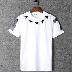98809 스타 넘버 프린팅 하프 티셔츠 (3Color / 2Type)