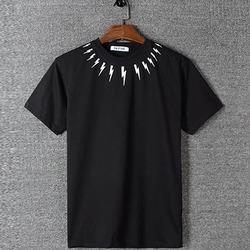 98811 NE 썬더 네크라인 하프 티셔츠 (2Color)