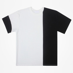 98884 엠보 배색 하프 티셔츠 (4Color)