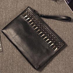 99086 글리터 스터드 크로스 클러치백 (Black)