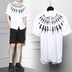 100006 NE 시그니처 썬더볼트라인 하프 셔츠 (White)