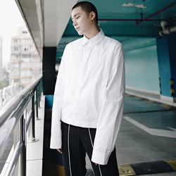 100019 미니멀라인 히든버튼 셔츠 (White)
