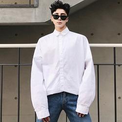 100026 미니멀 오버핏 셔츠 (White)