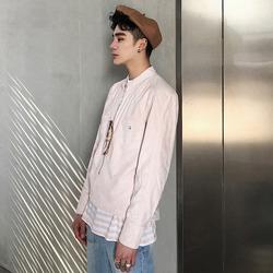 100059 집업 헨리넥 차이나카라 셔츠 (Pink)