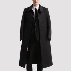100122 미니멀라인 싱글 트렌치 코트 (Black)