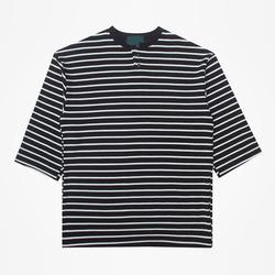 99167 헨리넥 단가라 7부 티셔츠 (2Color)