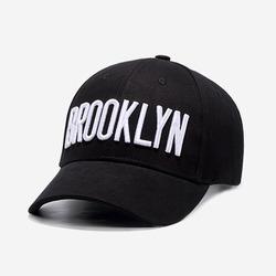 99590 브루클린 자수라인 볼 캡 (Black)