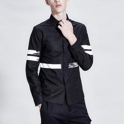 99833 사이드 페인팅 나염 셔츠 (Black)
