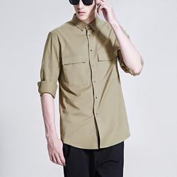 99839 미니멀 더블 체스트 포켓 셔츠 (3Color)