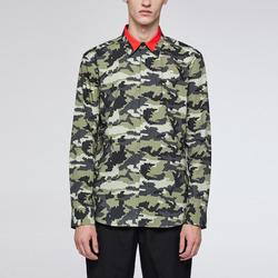 99874 VA 배색카라 카무플라주 셔츠 (Khaki)