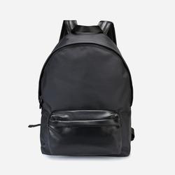 99928 미니멀 레더블렌드 백팩 (Black)