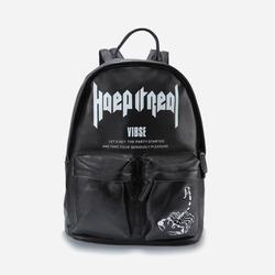 99935 투포켓 바이브 프린팅 백팩 (Black)