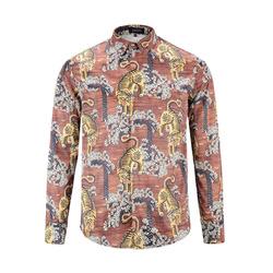 99955 유니크 타이거 패턴 셔츠 (Brown)