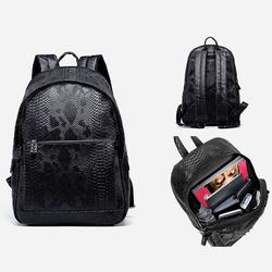 100276 유니크 스네이크 스킨 백팩 (Black)