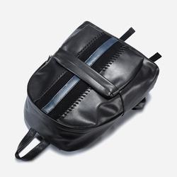 100289 GI 유니크 테이프라인 백팩 (Black)