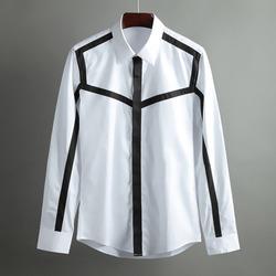 100360 GI 스파이더 라인 히든버튼 셔츠 (2Color)
