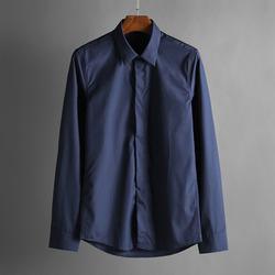 100368 데일리 베이직 히든버튼 셔츠 (2Color)