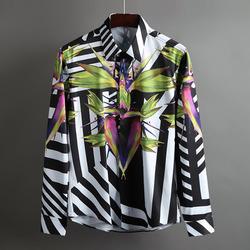 100384 GI 시그니처 지오매트리 라인 히든버튼 셔츠 (White+Black)