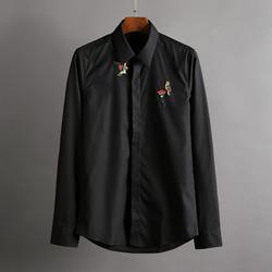 100388 AC 칼라풀 패치 히든버튼 셔츠 (2Color)