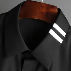 100401 미니멀 배색 카라 히든버튼 셔츠 (2Color)