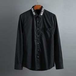 100414 미니멀 타이포라인 카라 셔츠 (2Color)