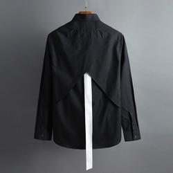 100433 GI 유니크 테잎 로트와일러 실루엣 셔츠 (2Color)