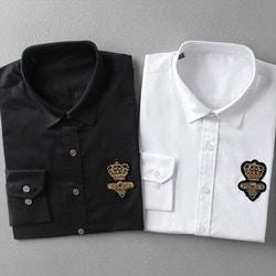 100575 DO 크라운 벌자수 패치 셔츠 (2Color)