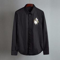 100580 AC 체스트 로즈자수 히든버튼 셔츠 (2Color)