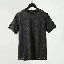 100595 VA 쉐도우 카무플라주 하프 티셔츠 (Black)