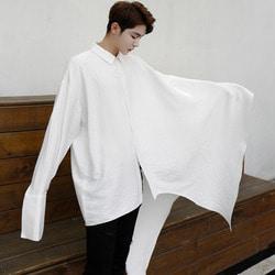 100756 유니크라인 망토 셔츠 (2Color)
