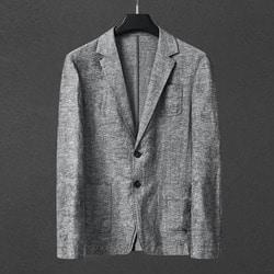 100875 베이직라인 린넨 싱글 자켓 (Gray)