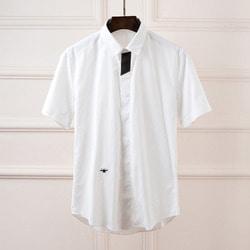 100932 DI 시그니처 앞배색 하프 셔츠 (White)