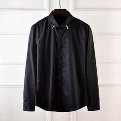 100951 CH 크로스 카라 히든버튼 셔츠 (2Color)