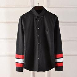 100963 GI 시그니처 소매 배색 셔츠 (Black)