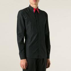 100973 GI 시그니처 배색카라 히든버튼 셔츠 (2Color)
