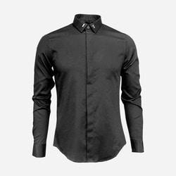 100985 DI 시그니처 카라핀 히든버튼 셔츠 (2Color)