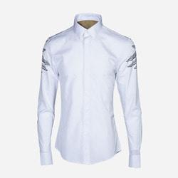 101000 MA 데몬 타투 히든버튼 셔츠 (White)