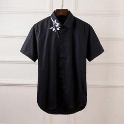 101008 NE 시그니처 카라 나염 히든버튼 셔츠 (2Color)