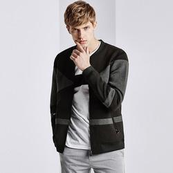 101127 유니크 배색 네오프렌 블루종 점퍼 (Gray+Black)