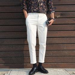 101158 카브라 코튼 치노 슬랙스 (White)