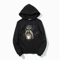 101260 GI 시그니처 로트와일러 후드 티셔츠 (Black)