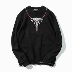 101263 GO 시그니처 네크리스 맨투맨 티셔츠 (Black)