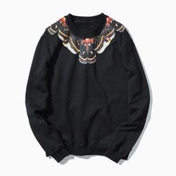101268 유니크 네크라인 맨투맨 티셔츠 (Black)