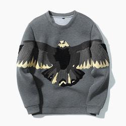 101276 유니크 배색 패치라인 네오프렌 티셔츠 (Gray)