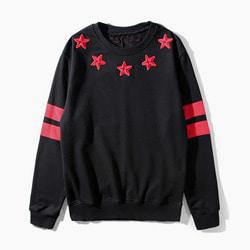101351 GI 별자수 소매나염 맨투맨 티셔츠 (2Color)