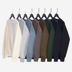 101596 미니멀 오버핏 맨투맨 티셔츠 (8Color)