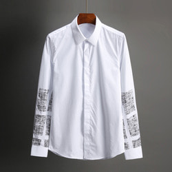 101815 레트로 소매라인 히든버튼 셔츠 (2Color)